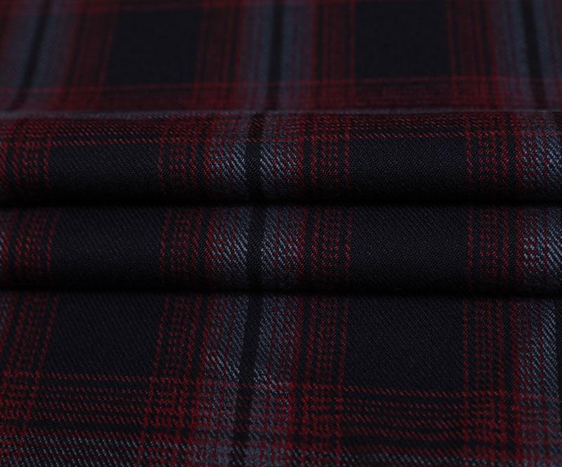 格子布 10028(T/R梭织面料、大衣、格子)