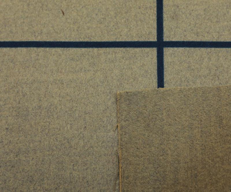 拉毛布 1068-B格子印花(T/R/SP梭织面料、拉丝、大衣、印花)