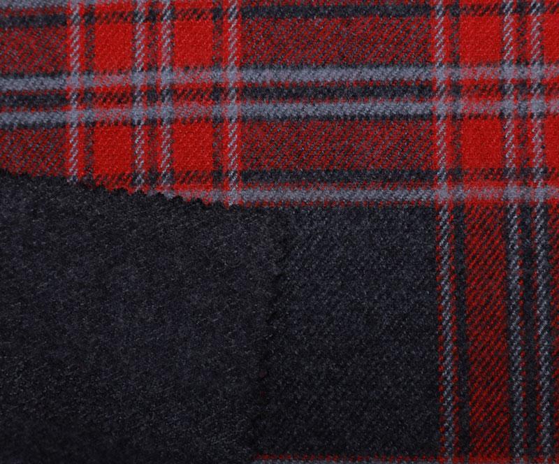 格子布 1078(T/R梭织面料、大衣、格子)