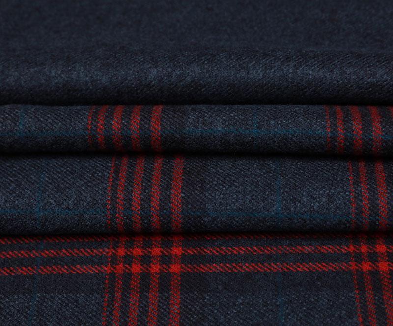 格子布 1181(T/R梭织面料、大衣、格子)
