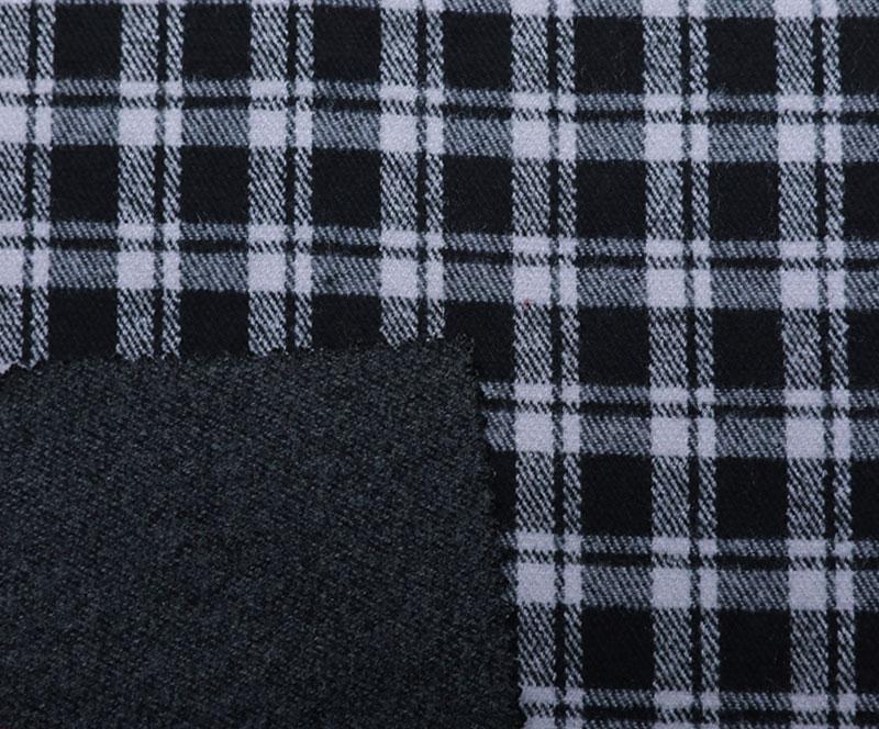 格子布 1268(T/R梭织面料、大衣、格子)