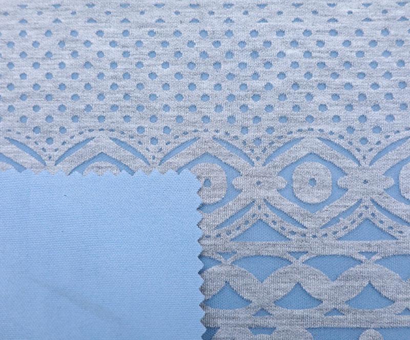 针织布 2282 富贵花(T/SP针织面料、西装裙)