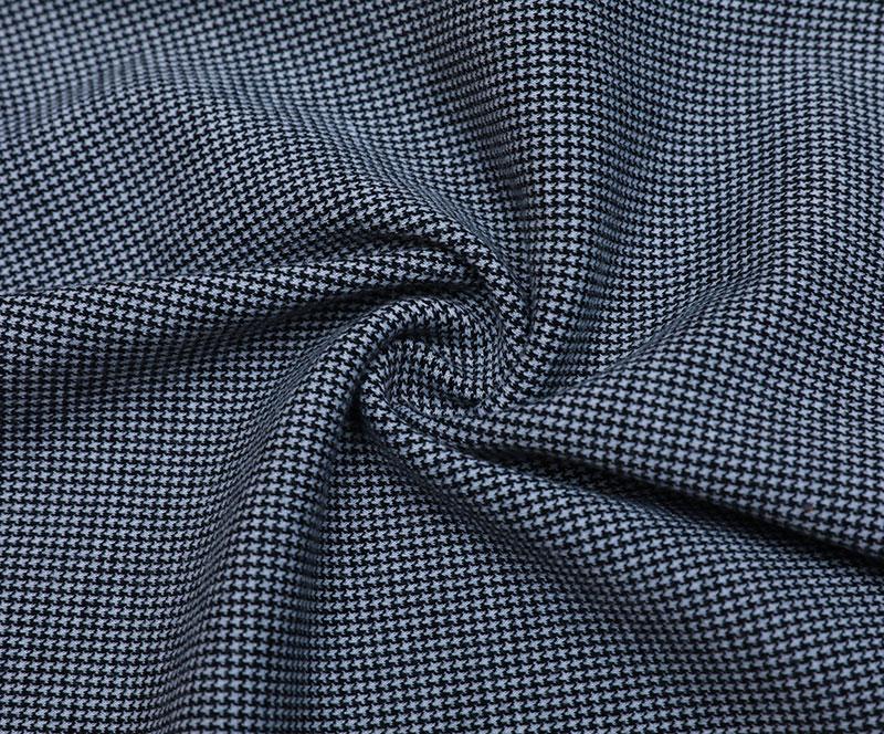 针织布 2434(T/R/SP针织面料、短裙、千鸟格)