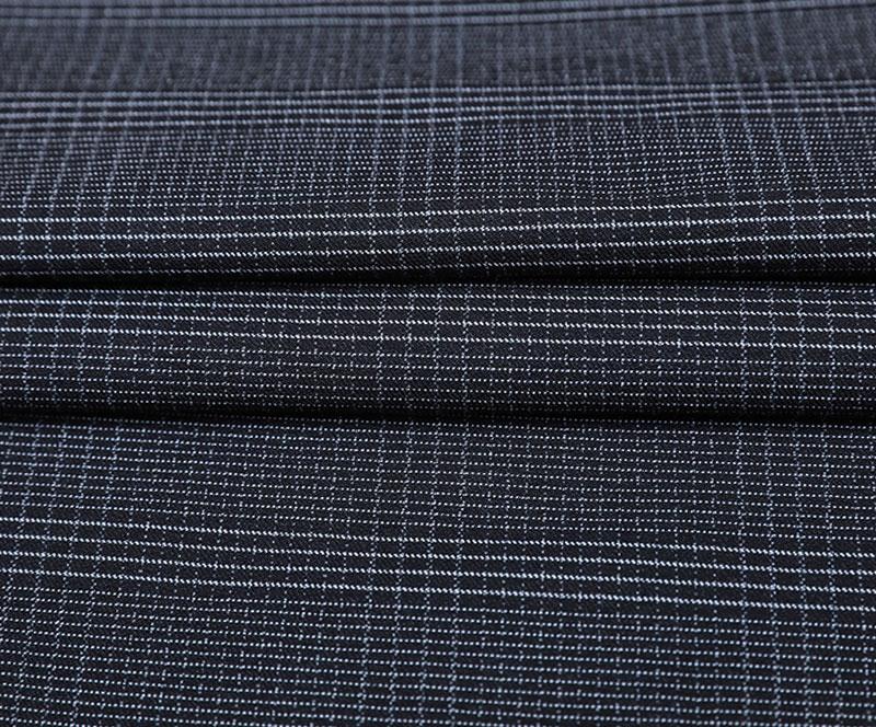 棉锦罗缎 3163(R/N/T/SP梭织面料、WARP弹性材料、裤子、格子)