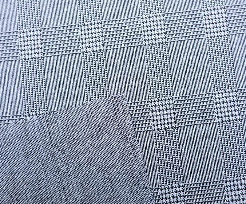 针织布 3297(T/R/SP针织面料、西装、裙子、格子)