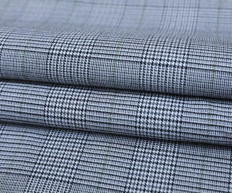 格子布 3381(T/R/SP梭织面料、西装、裤子)