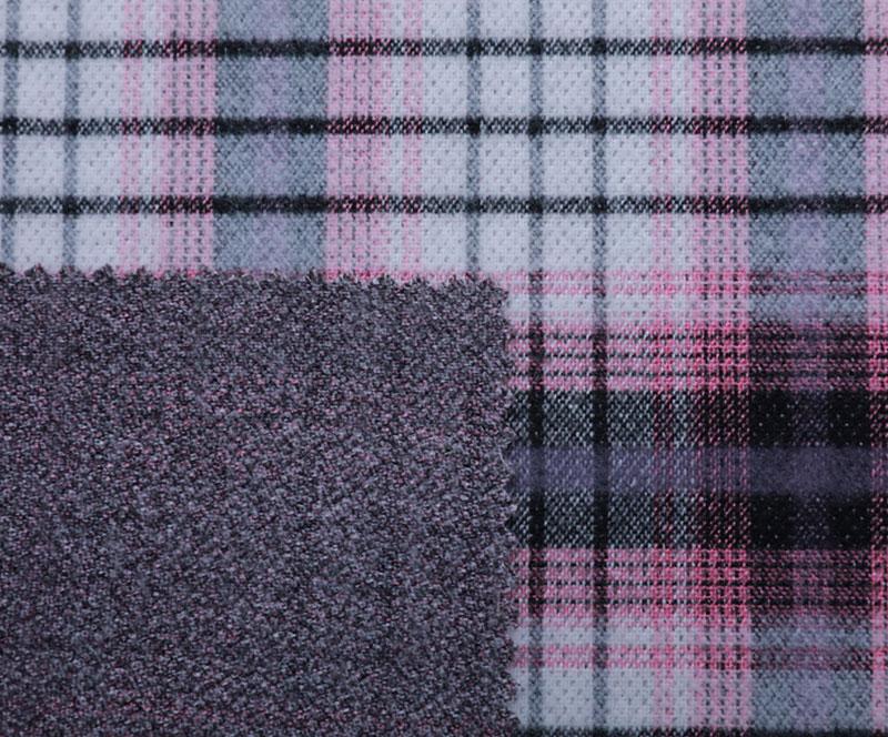 格子布 989(T/R梭织面料、大衣、格子)